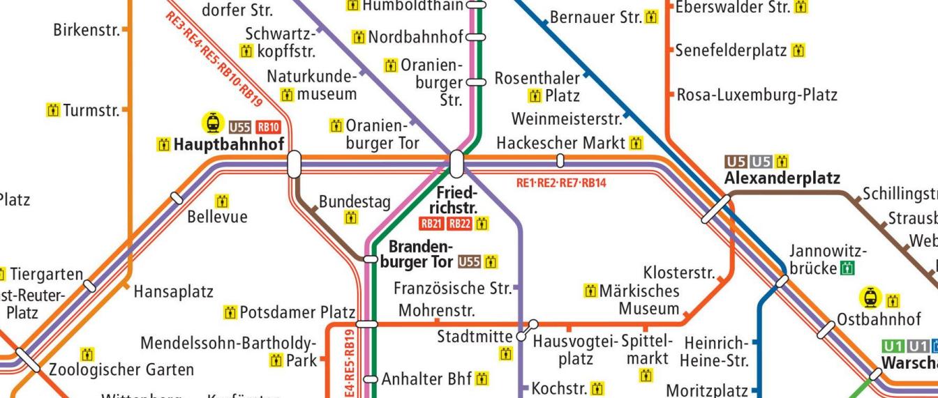 Cartina Metropolitana Di Parigi Da Stampare.Mappa Di Berlino Da Stampare Metro U Bahn S Bahn E Tram